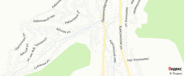 Полярный переулок на карте Горно-Алтайска с номерами домов