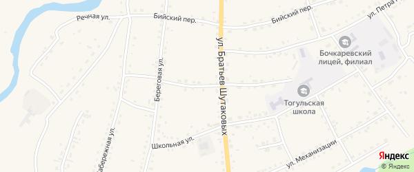 Трансформаторный переулок на карте села Тогула с номерами домов