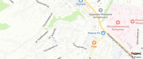 Переулок Жукова на карте Горно-Алтайска с номерами домов