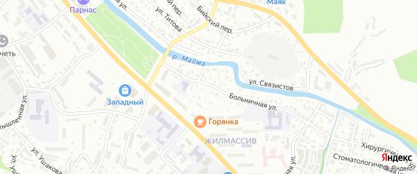 Уютный переулок на карте Горно-Алтайска с номерами домов