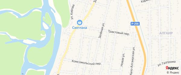 Пионерский переулок на карте села Майма с номерами домов