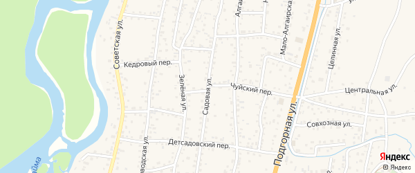 Садовая улица на карте села Майма с номерами домов
