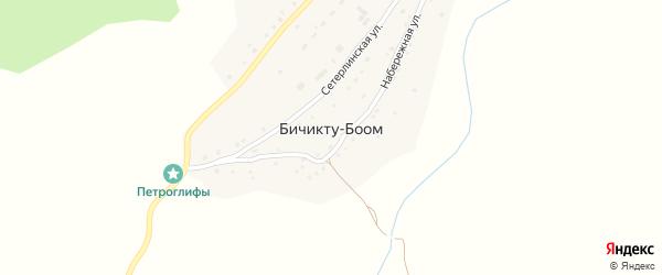 Улица М.Ойноткинова на карте села Бичикту-Боома с номерами домов