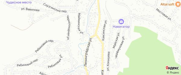Ленинградская улица на карте Горно-Алтайска с номерами домов