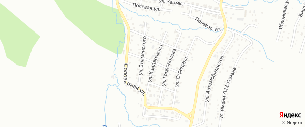Улица имени Ч.М.Кандаракова на карте Горно-Алтайска с номерами домов