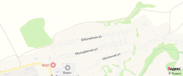 Юбилейная улица на карте села Верха-Бехтемира с номерами домов