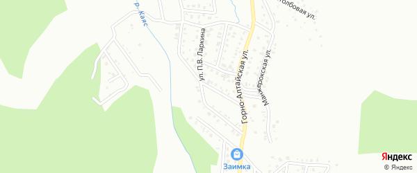 Переулок П.В.Ларкина на карте Горно-Алтайска с номерами домов