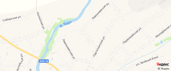 Левокиевская улица на карте села Тогула с номерами домов