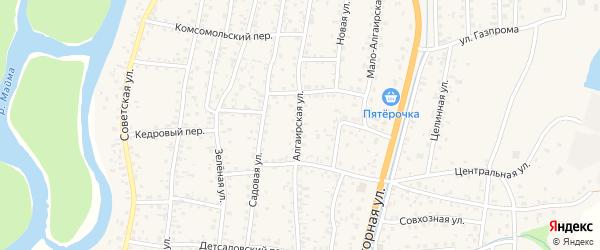 Алгаирская улица на карте села Майма с номерами домов