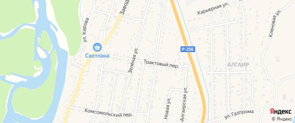 Трактовый переулок на карте села Майма с номерами домов
