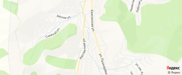 Каясинский ГСК на карте Горно-Алтайска с номерами домов