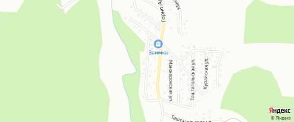 Ойрот-Туринская улица на карте Горно-Алтайска с номерами домов