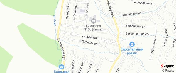 Улица Заимка на карте Горно-Алтайска с номерами домов