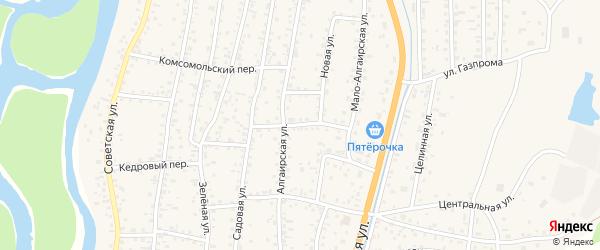 Трансформаторный переулок на карте села Майма с номерами домов
