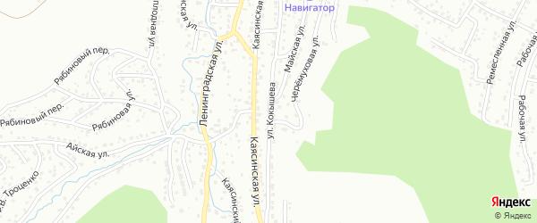 Улица Кокышева на карте Горно-Алтайска с номерами домов