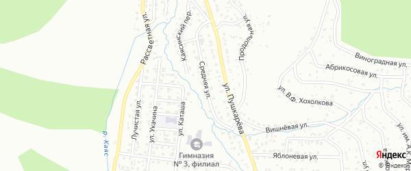 Средняя улица на карте Горно-Алтайска с номерами домов