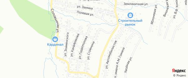 Улица имени Ф.М.Стренина на карте Горно-Алтайска с номерами домов