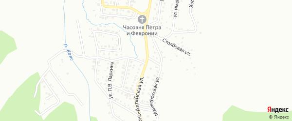 Горно-Алтайская улица на карте Горно-Алтайска с номерами домов