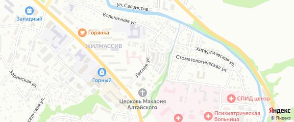 Лесная улица на карте Горно-Алтайска с номерами домов
