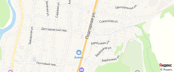 Подгорная улица на карте села Майма с номерами домов