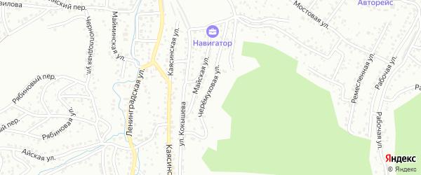 Черемуховая улица на карте Горно-Алтайска с номерами домов