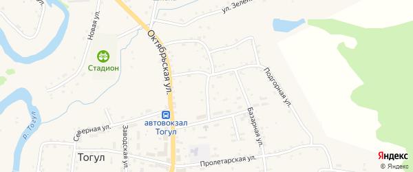 Юбилейная улица на карте села Тогула с номерами домов