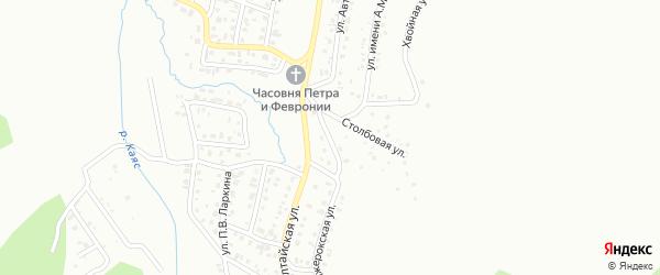 Грибная улица на карте Горно-Алтайска с номерами домов