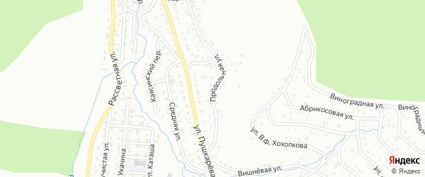 Продольная улица на карте Горно-Алтайска с номерами домов