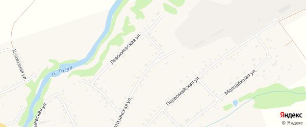 Партизанская улица на карте села Тогула с номерами домов
