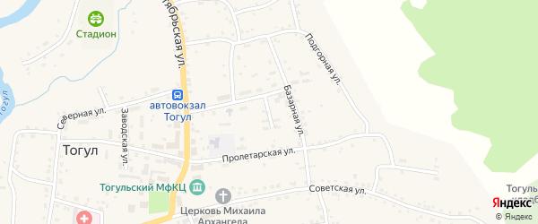 Библиотечный переулок на карте села Тогула с номерами домов