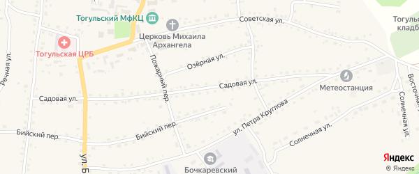 Садовая улица на карте села Тогула с номерами домов