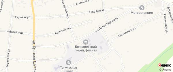 Улица Петра Круглова на карте села Тогула с номерами домов