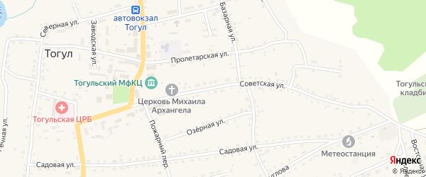 Советская улица на карте села Тогула с номерами домов
