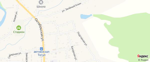 Подгорная улица на карте села Тогула с номерами домов