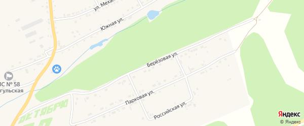 Березовая улица на карте села Тогула с номерами домов