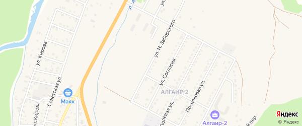 Улица Н.Заборского на карте села Майма с номерами домов