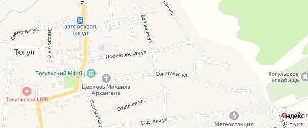 Базарная улица на карте села Тогула с номерами домов