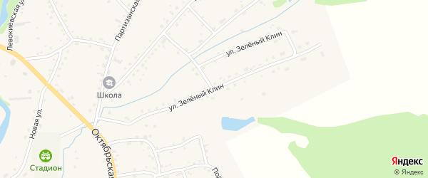 Улица Зеленый Клин на карте села Тогула с номерами домов