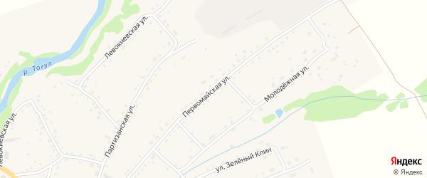 Первомайская улица на карте села Тогула с номерами домов