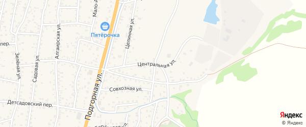 Центральная улица на карте села Майма с номерами домов
