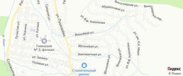 Вишневая улица на карте Горно-Алтайска с номерами домов