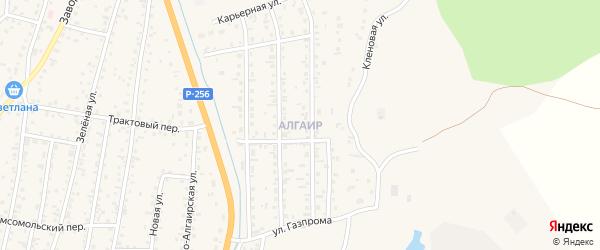 Квартал Жилмассив Алгаир на карте села Майма с номерами домов