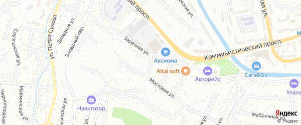 Громовой переулок на карте Горно-Алтайска с номерами домов