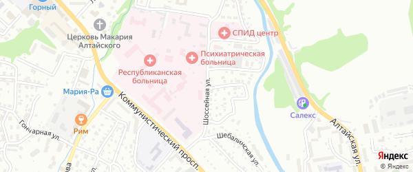 Шоссейная улица на карте Горно-Алтайска с номерами домов