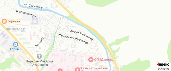 Хирургическая улица на карте Горно-Алтайска с номерами домов