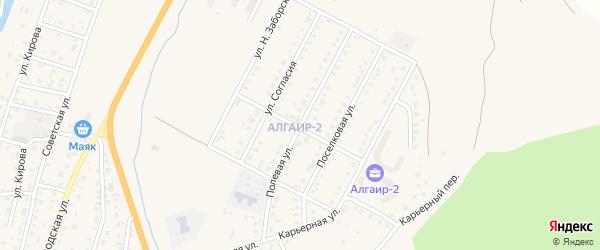 Полевая улица на карте села Майма с номерами домов