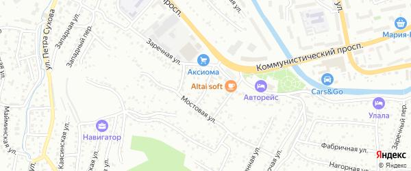 Гаражный переулок на карте Горно-Алтайска с номерами домов