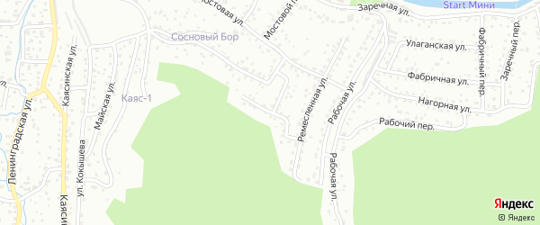 Ремесленный переулок на карте Горно-Алтайска с номерами домов