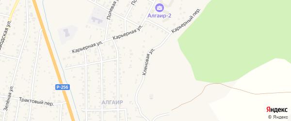 Кленовая улица на карте села Майма с номерами домов