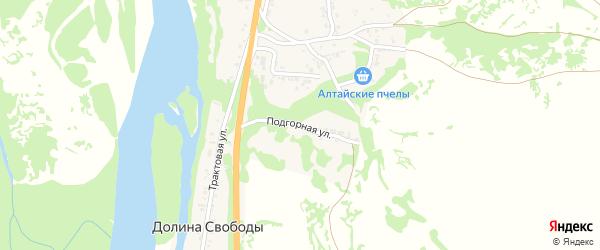 Подгорная улица на карте поселка Долиной Свободы с номерами домов